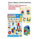 Stack & match colorfull dominoes