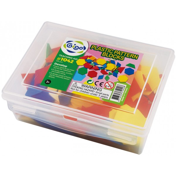 Plastic Pattern Block - Gigo Teaching Aids