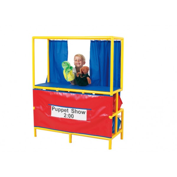 Puppet Stage With Cubbies In Black - Gigo Early Childhood