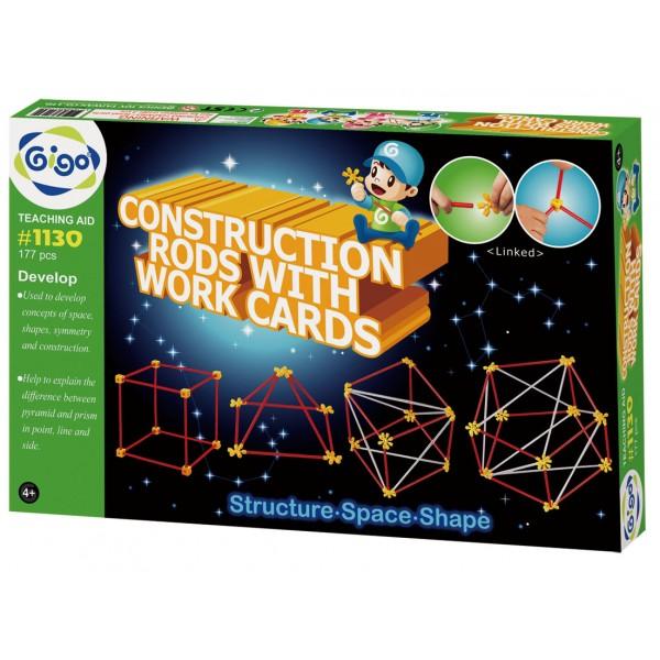 Construction Rods With Work Cards - Gigo Teaching Aids
